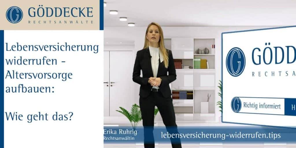 Lebensversicherung Widerrufen Rechtsanwältin Erika Ruhrig Göddecke Rechtsanwälte