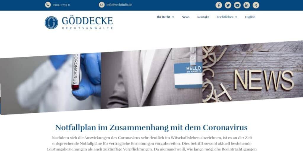 Service Coronavirus Schaden Unternehmer Coronavirus Anwalt