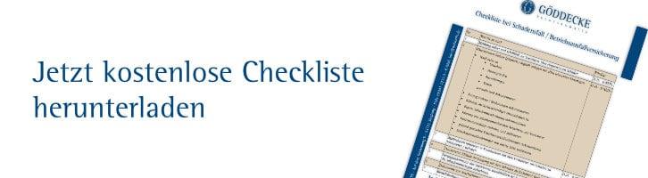 betriebsausfallversicherung checkliste
